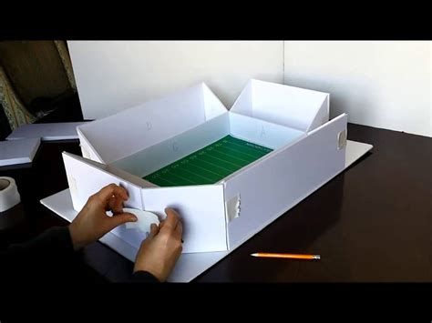How To Make A Paper Football Stadium - how to build a snack stadium