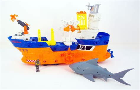 toy boat adventure matchbox mega rig building systems shark ship and