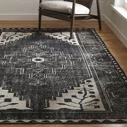 black rugs anice black rug crate and barrel