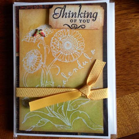 Handmade Thinking Of You Cards - handmade card thinking of you s handmade cards
