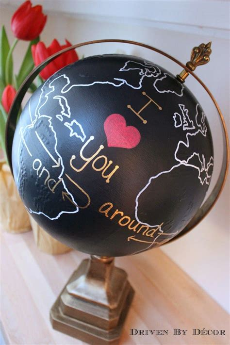 themes around love upcycled globe i love you around the world and back again