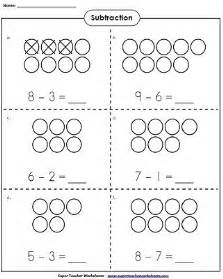 use counters to learn basic subtraction kindergartenmath