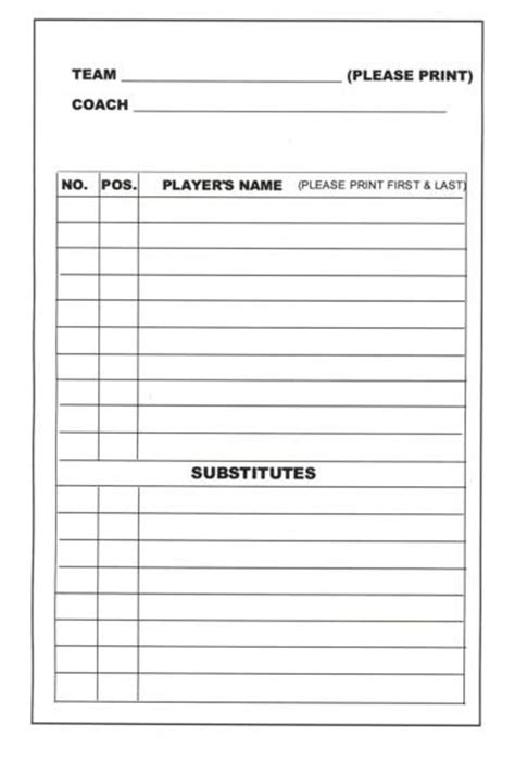 field card template the hill lineup 9 9