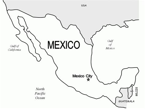 coloring page mexico map mexico coloring pages getcoloringpages com