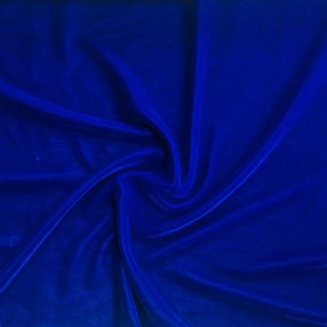 royal blue micro velvet fabric soft 45 inches by the
