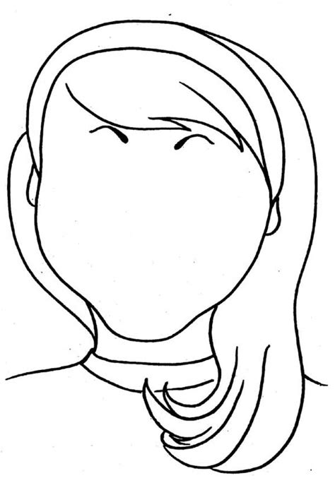 girl head coloring page blank face coloring page getcoloringpages com