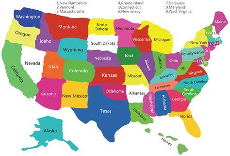 USA States Map, US States Map, America States Map, States