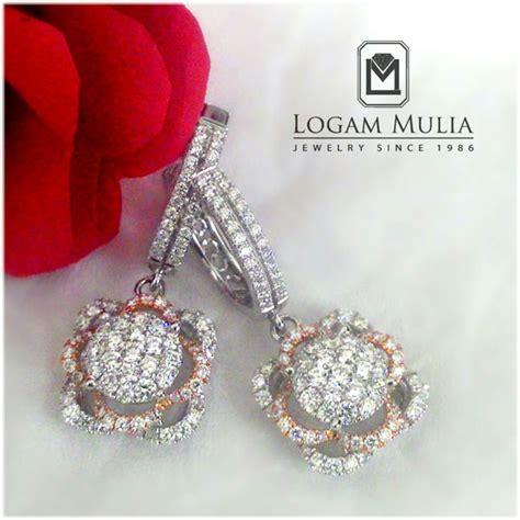 Anting Model Bunga Berlian Pa001 jual anting anting berlian wanita ara e102954b tsss
