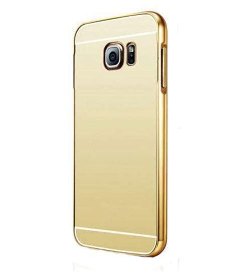 high quality mirror back cover with metal bumper for