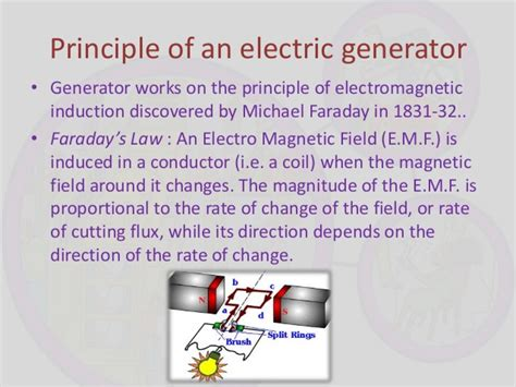 principle of electromagnetic induction generator principle of electric motor and generator