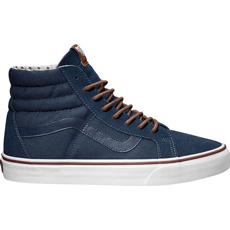 high top dress sneakers vans s sk8 hi dress blue hi top shoes casual shoes