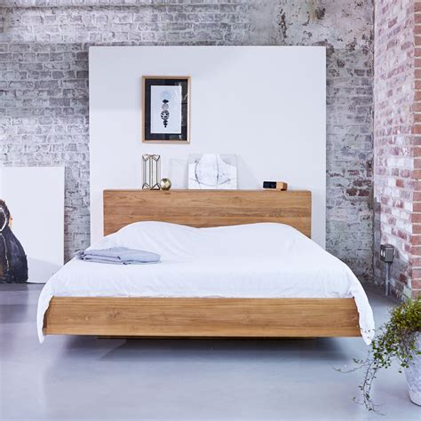chambre teck lit en teck 160x200 vente de lit en teck massif flat chez
