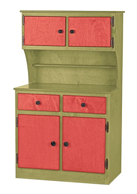 Handmade Furniture Usa - kitchen hutch green amish handmade play pantry