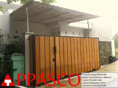 Kanopi Alderon kanopi alderon dan pagar minimalis motif kayu di pondok cabe jual kanopi tralis