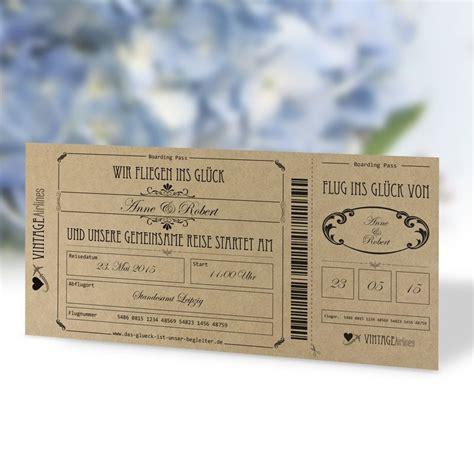 Hochzeitseinladung Boarding Pass by Einladungskarte Hochzeit Vintage Boarding Pass