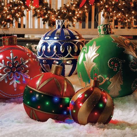 Lighted Outdoor Ornaments Large Outdoor Decorations B