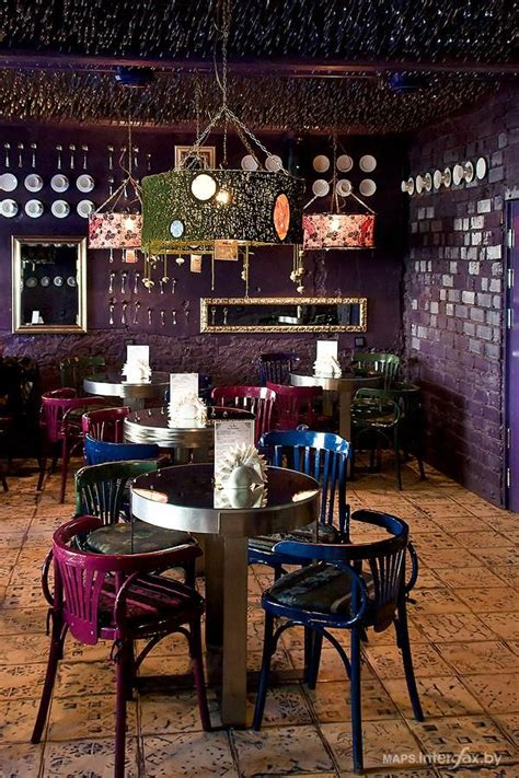 stunning bohemian luxe cafe interior design dark mauve