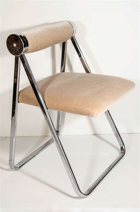 modern folding chairs ultra luxe modernist folding chair attributed to giancarlo