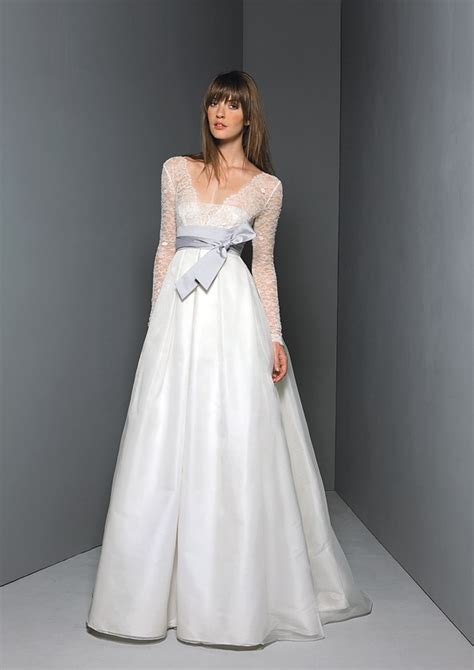 classic ivory a line sleeved wedding dress inspired by
