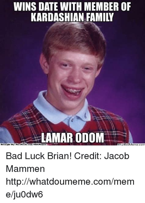 Lamar Odom Meme - 25 best memes about bad luck brians bad luck brians memes