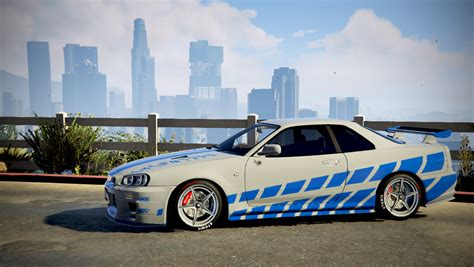 fast and furious nissan skyline 2 fast 2 furious nissan skyline r34 livery gta5 mods com