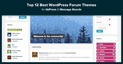wordpress themes free forum top 12 best wordpress forum themes for bbpress message
