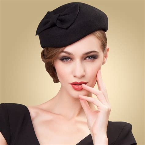 black women short hairstyles for hats 3 colors womens lady vintage fascinator wool hair pillbox