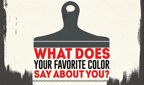 what your favourite colour says about you what does your favorite color say about you infographic visualistan