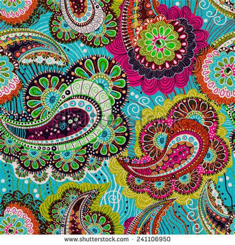 colorful paisley wallpaper patchwork pattern stock photos images pictures