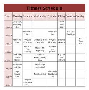time schedule chart template fitness schedule template 12 free excel pdf documents