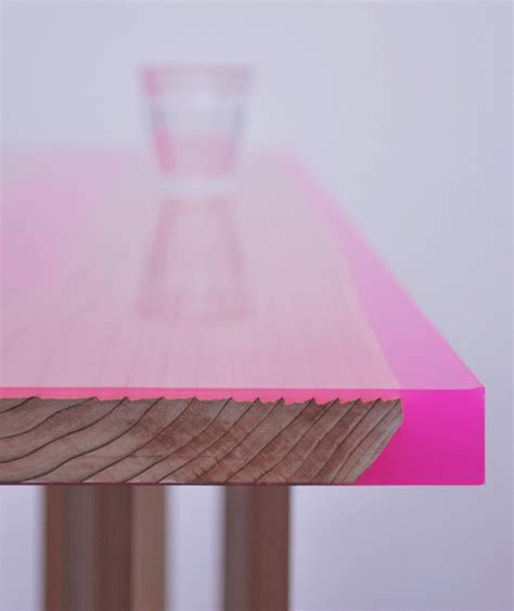 contemporary low table with 8 legs covered with epoxy