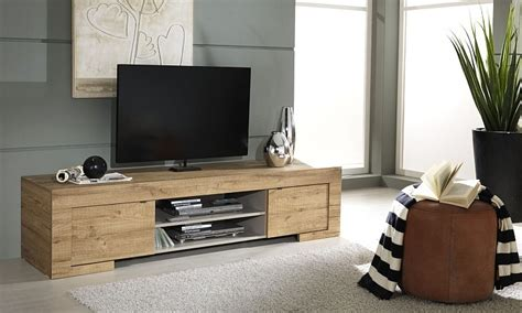 porta tv moderno country mobile soggiorno design rovere