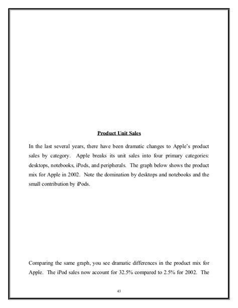 Mba Project Report On Financial Leverage by Mba Project Report On Apple Inc