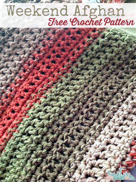 crochet patterns free and easy free pattern fast and easy weekend afghan knit and