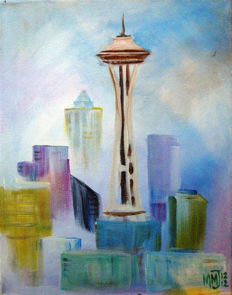 paint nite groupon seattle 5 4 space needle sold out the edgewater