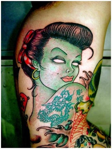 hot zombie tattoo 40 zombie tattoo designs that scare to death