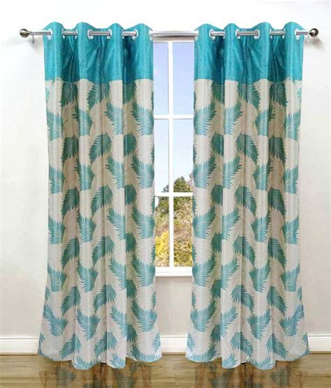 indian curtains online homefab india single long door eyelet curtain floral buy