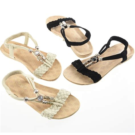 Flat Sandal Selop Bunga Import fashion summer bohemia flat shoes sandals slippers flip flops new ebay