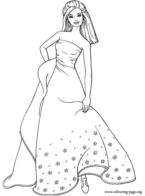 barbie coloring pages for girls az coloring pages