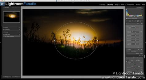lightroom tutorial radial filter going circular with the lightroom radial filter
