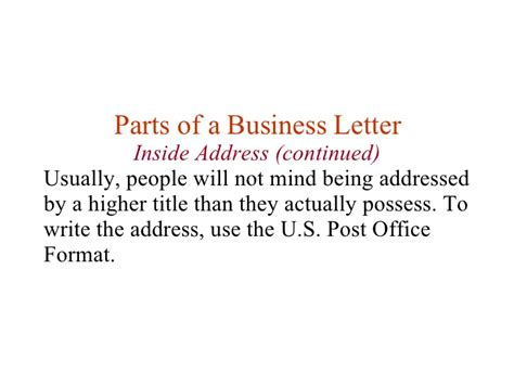 business letter inside address formal business letter inside address 28 images how to