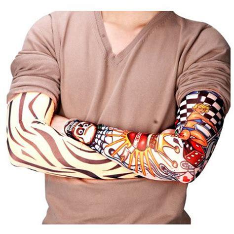 tattoo arm sleeve fake 6 pcs new nylon elastic fake temporary tattoo sleeve