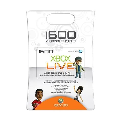 Xbox 360 Points Gift Card - xbox live cards images