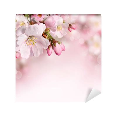 Pink Blossom Refrigerator Cover Single Shabby Vintage Flower flowers background with pink blossom wall mural