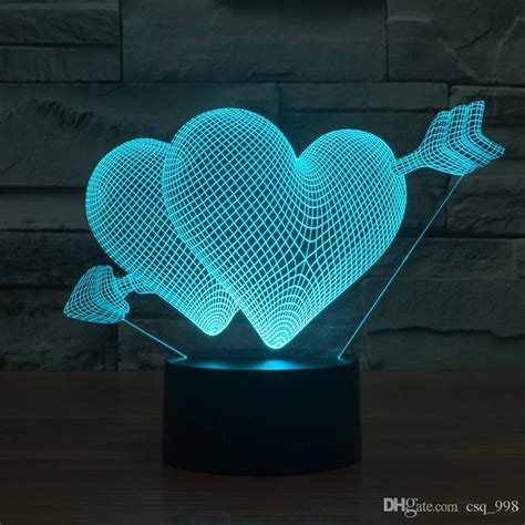 Cool Modern Lamps 2017 heart lamp 3d led lights cubes table lamps color