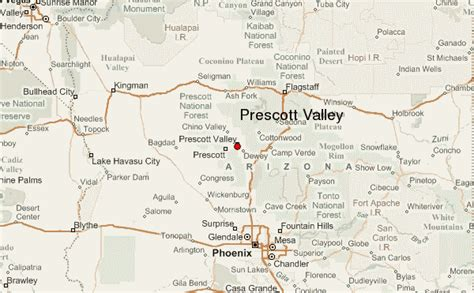 map of arizona prescott prescott valley location guide