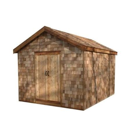 greenstone 10 ft x 12 ft ez build shed kit with prefab