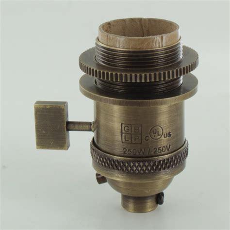 threaded uno l shade l parts antique brass uno threaded single turn square