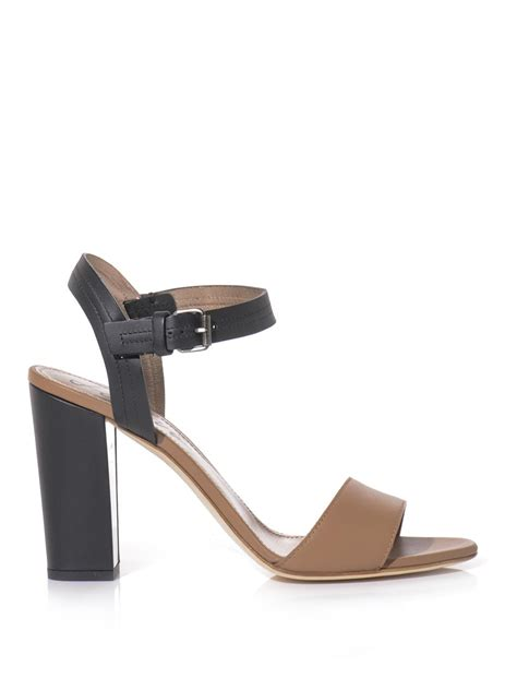 chunky heel sandals lanvin chunky heel sandals in black neutral lyst