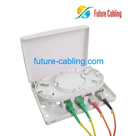wholesale cheap ftth terminal box 4 ports suit for sc fiber optic adapters for sale